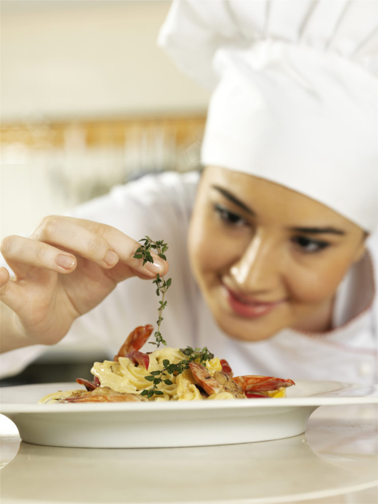 Food Service Industry Chef at Work