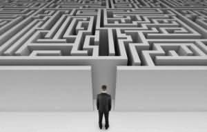 Job search maze graphic